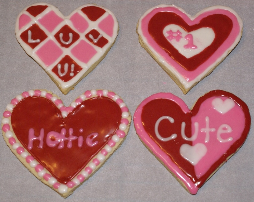 Decorated Valentine's Day Sugar Cookies