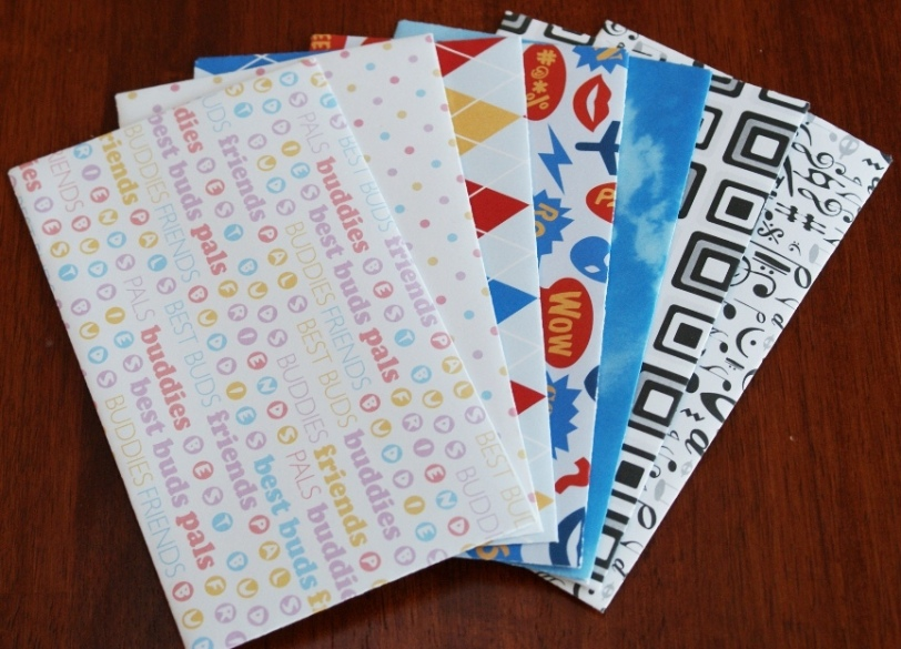 A variety set of handmade envelopes