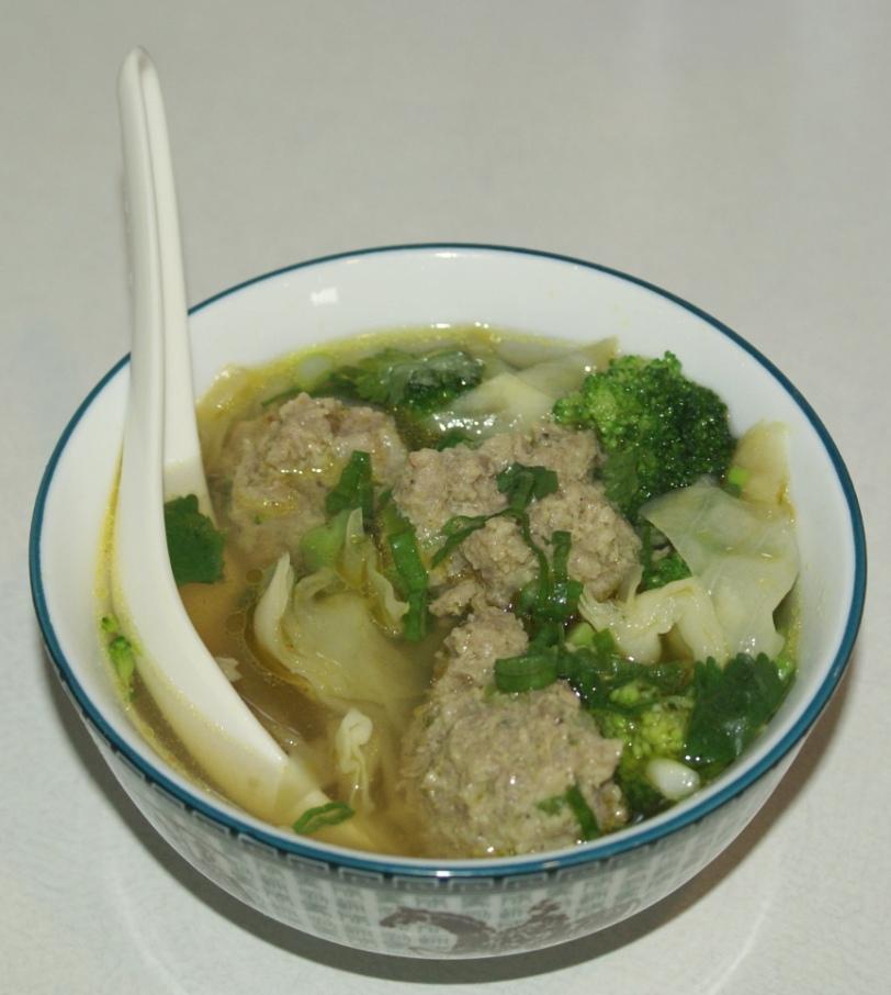 Lions Head Soup-a.k.a.Wonton Soup in a Jiffy!
