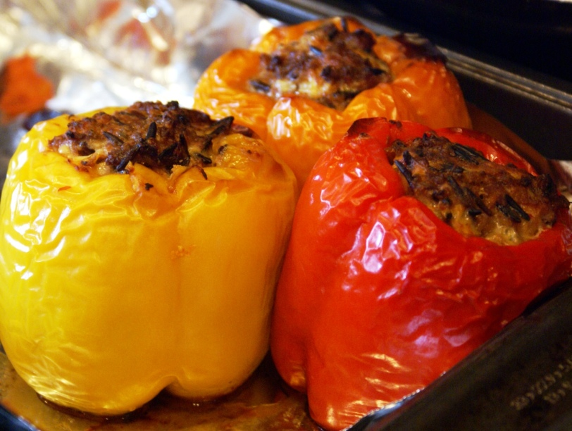 Meat-lovers stuffed peppers