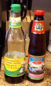 The soy and oyster sauce we use in our house.