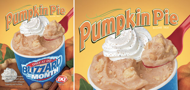stock photo of the DQ Pumpkin Pie Blizzard