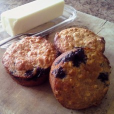 light blueberry oatmeal muffins