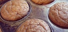 Gluten-free pumpkin spice muffin with flax